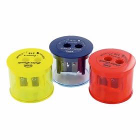 Точилка KUM Color-Combi  с контейнером, 2 отверстия, ассорти