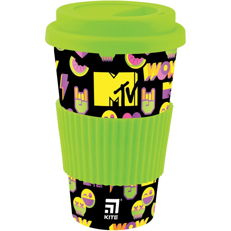 Стакан из бамбука KITE MTV, 440 мл