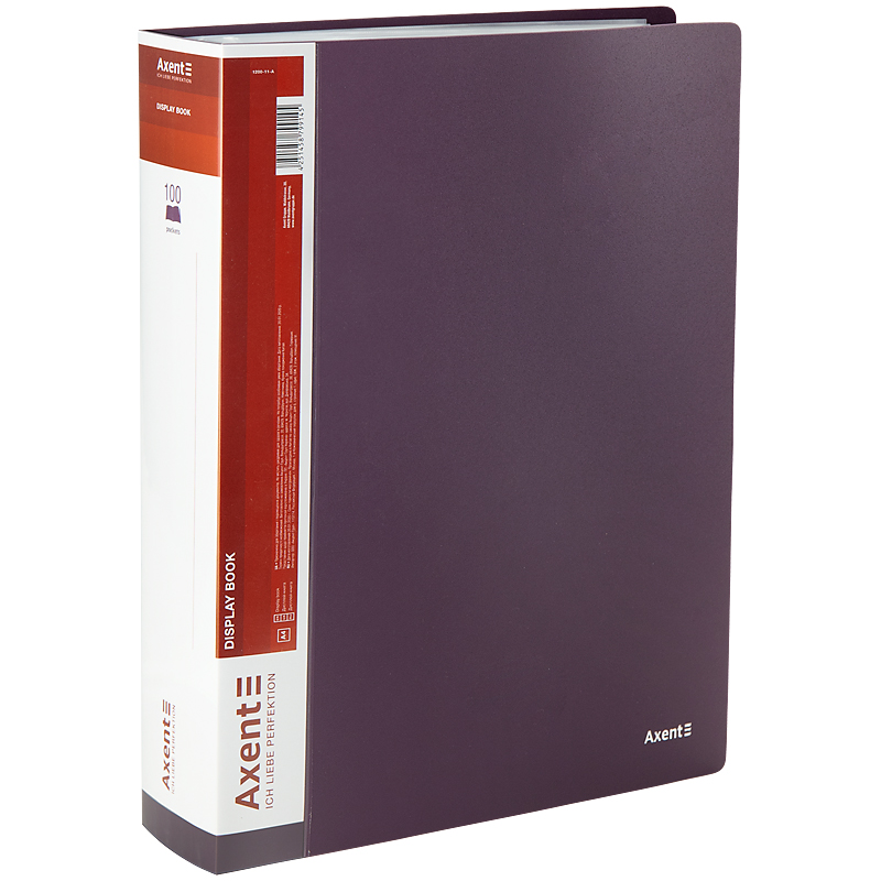 Дисплей-книга с 100 файлами Axent А4, сливовая