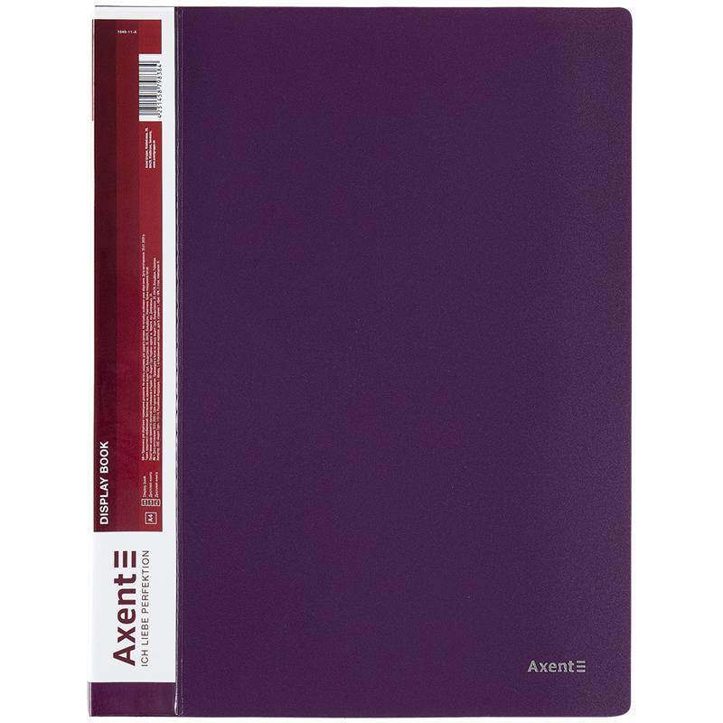 Дисплей-книга с 10 файлами Axent А4, сливовая