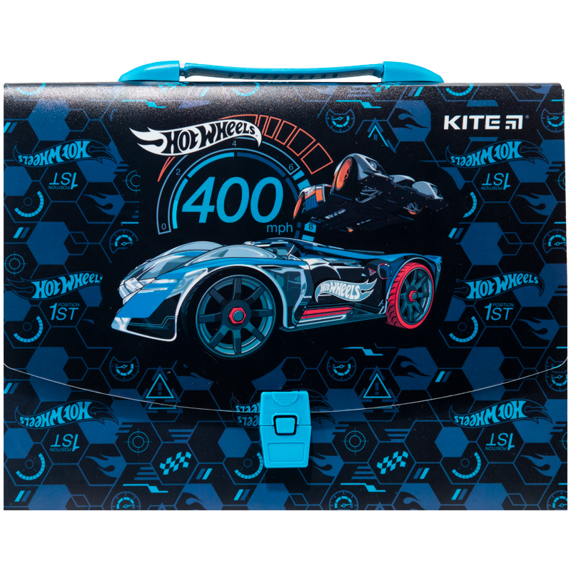 Пластиковый портфель KITE Hot Wheels А4, 1 отделение