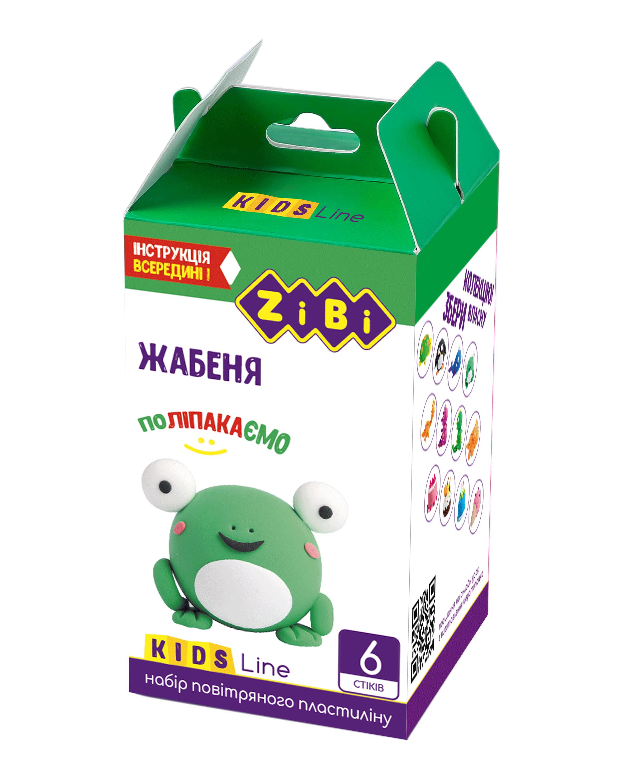 Набор воздушного пластилина для лепки ZiBi ЖАБЕНЯТКО, 6 цветов, ассорти, 420 г