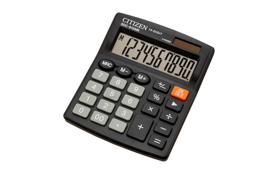 Калькулятор Citizen SDC-810NR, 10 розрядов