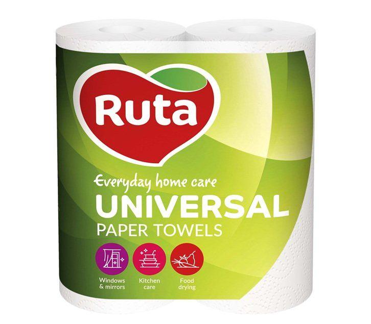 """Полотенца целлюлозные Ruta """"Universal"""",  2 слоя, 2  рулона,  белые"""