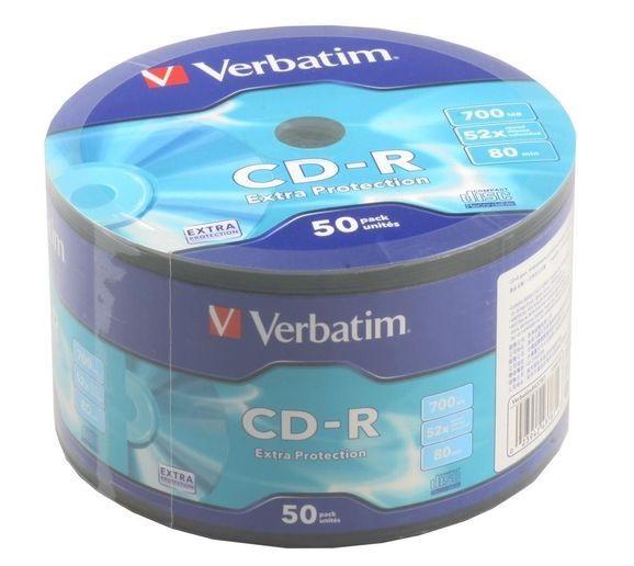 Диск CD-R, 700Mb, 52х, 80min, Wrap 50 pcs