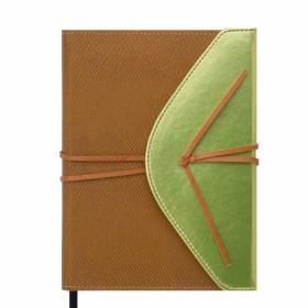 Ежедневник недатированный Buromax BELLA, коричневый с золотом