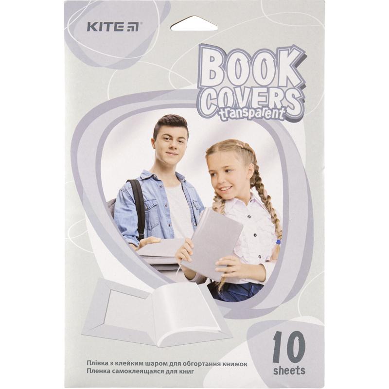 Пленка самоклеящаяся для книг KITE, 10 шт, ассорти