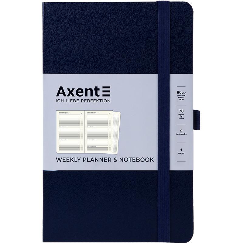 Еженедельникнедатированный  Axent  Partner Strong А5, синий