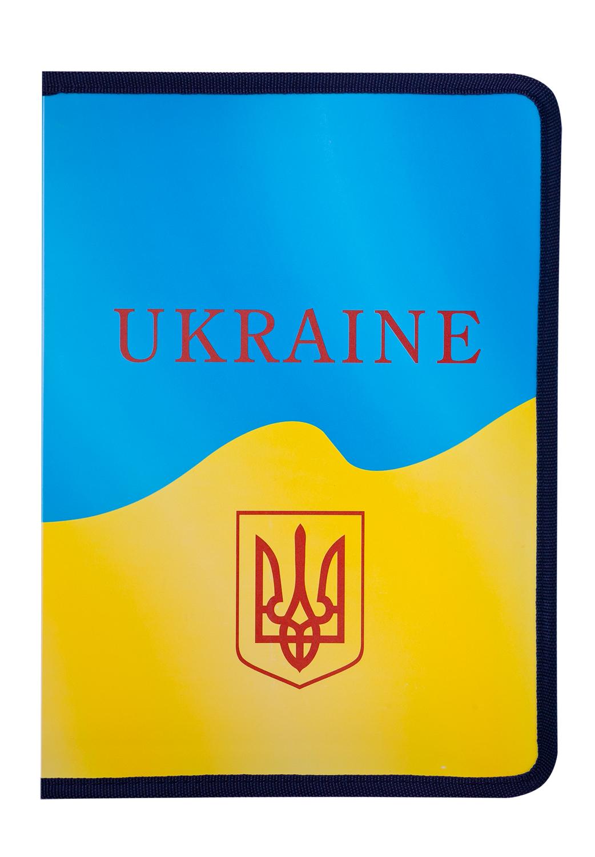 Папка на молнии Buromax UKRAINE A4, желтая