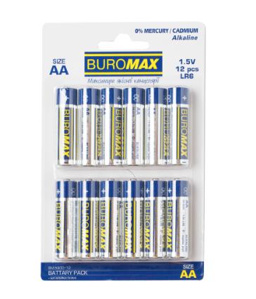 Батарейка Buromax LR6 (AA), 12 шт