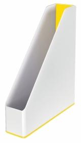 Лоток для бумаг вертикальный Leitz WOW Duo Colour пластиковый, желтый