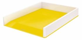 Лоток для бумаг горизонтальный Leitz WOW Duo Colour пластиковый, желтый