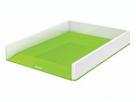 Лоток для бумаг горизонтальный Leitz WOW Duo Colour пластиковый, зеленый