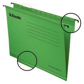 Папка подвесная А4 Esselte Classic, зеленая, 25 шт