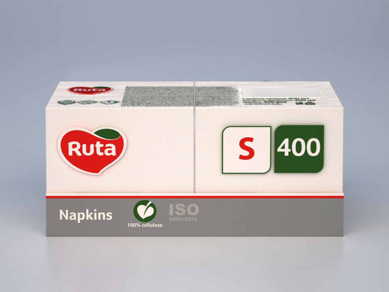 "Салфетки ""Ruta"" Professional S, белые, 400 шт"