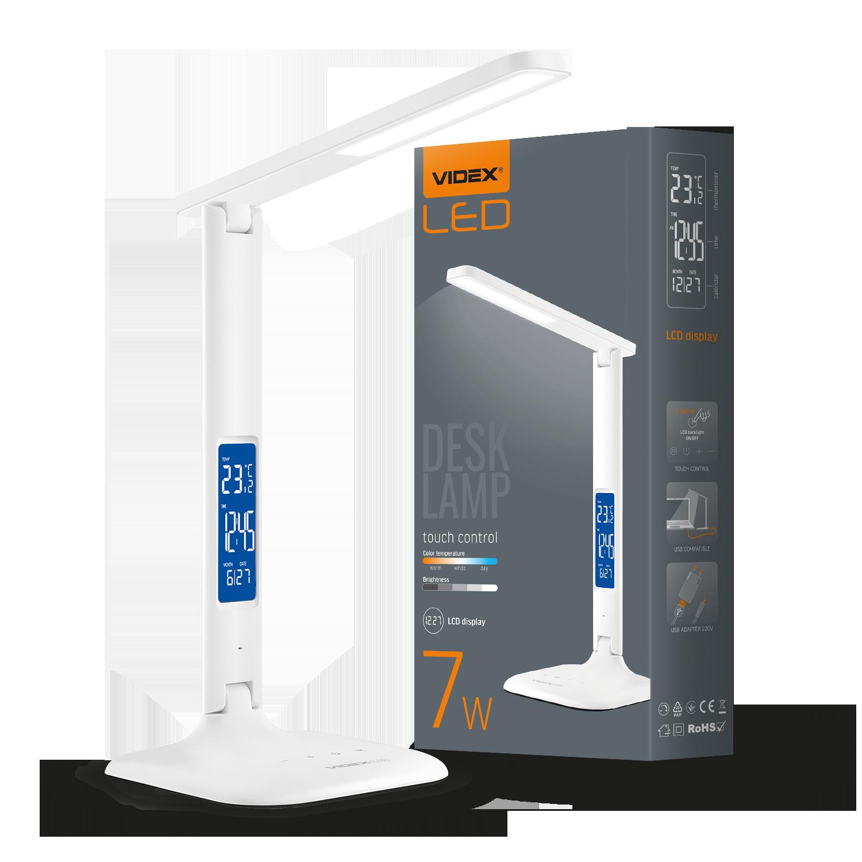 Лампа настольная светодиодная VIDEX Led с индикацией