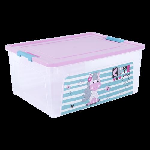 Контейнер с декором Pet Shop Smart Box 7.9 л прозрачный