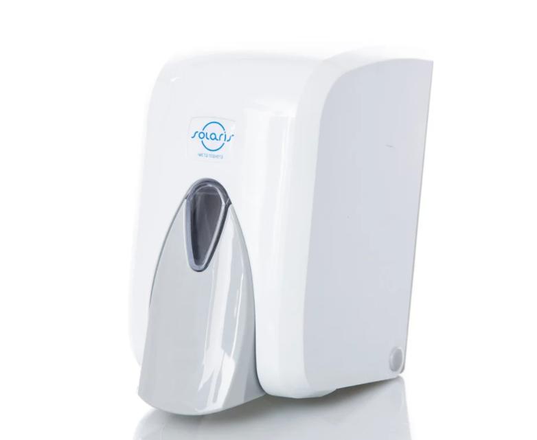 Дозатор для мыла-пены кнопочный  Solaris, 0,5 л, белый