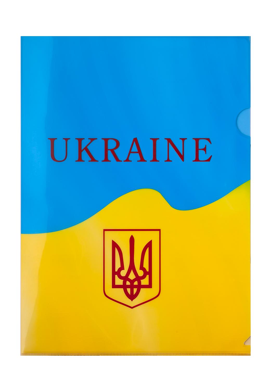 Папка-уголок Buromax UKRAINE А4,180 мкм, желтая