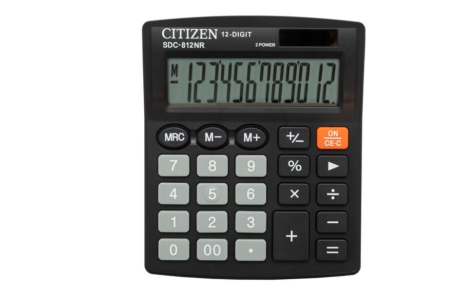 Калькулятор Citizen SDC-812NR , 12 разрядов