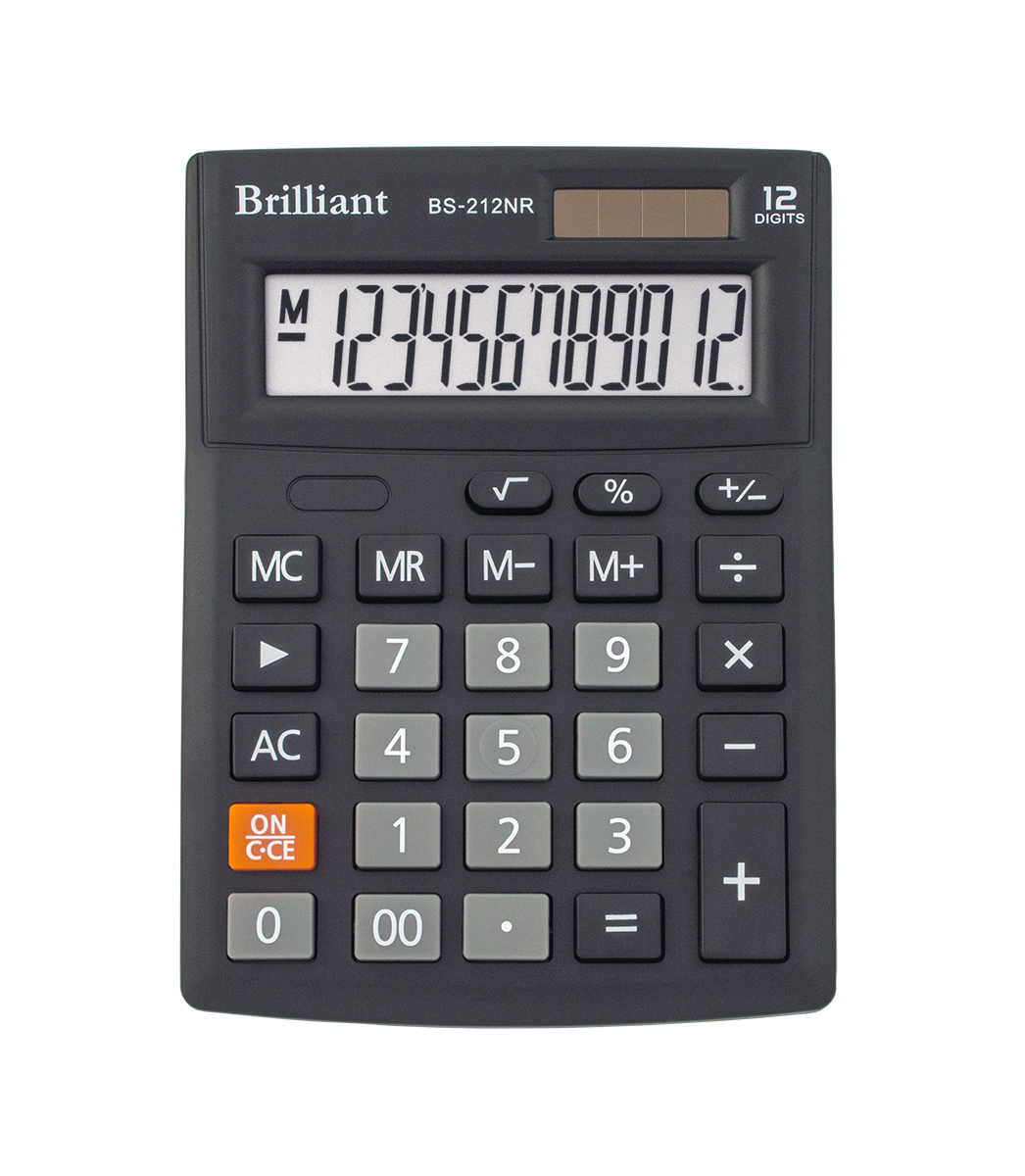 Калькулятор Brilliant BS-212NR, 12 разрядов