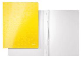 Скоросшиватель Leitz WOW А4, желтый металлик