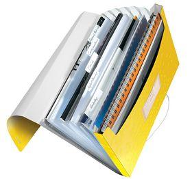Папка с отделениями Leitz WOW A4, 6 отделений, желтый металлик