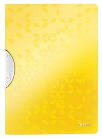 Папка с прижимом Leitz WOW Clip A4, желтый металлик
