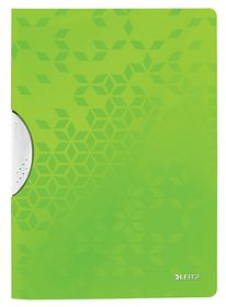 Папка с прижимом Leitz WOW Clip A4, зеленый металлик
