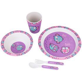 Набор посуды из бамбука Kite Owls, 5 предметов