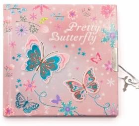 """Блокнот детский """"Милая бабочка"""", 135x135 мм, 60 листов, 70 г/м2, линия"""
