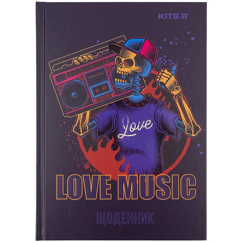 Дневник школьный KITE В5, 42 листа, Love music