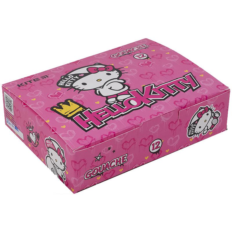 Гуашь KITE Hello Kitty, 12 цветов, 20 мл