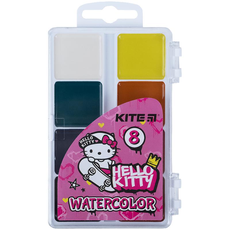 Краски акварельные KITE Hello Kitty без кисти, 8 цветов