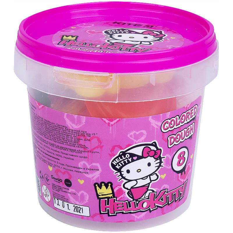 Тесто для лепкиKITE Hello Kitty, 8 цветов по 20 г