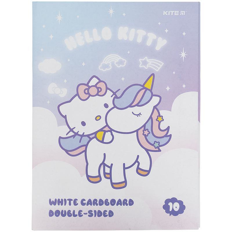 Картон белый KITE Hello Kitty А4, 10 листов