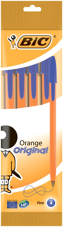 Набор ручек шариковыхBIC Orange 0.3 мм, синий, 4 шт