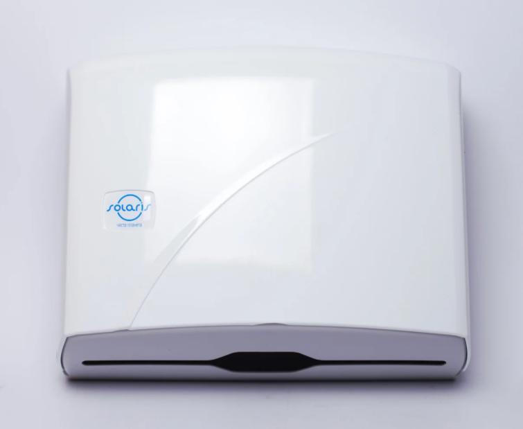Диспенсер для бумажных Z-полотенец Solaris, 245x95x225, белый