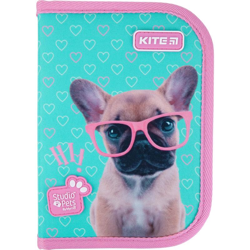 Пенал жесткий Kite Studio Pets, 1 отделение, 2 отворота