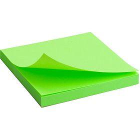 Блок бумаги для заметок Axent 75x75 мм, склеенный, неоновый зеленый