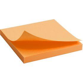 Блок бумаги для заметок Axent 75x75 мм, склеенный, неоновый оранжевый