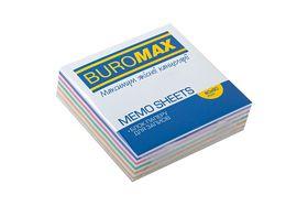 Блок бумаги для заметок Buromax Зебра 80х80х20 мм, склеенный