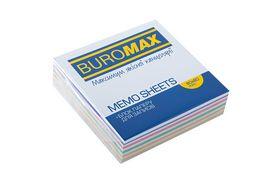 Блок бумаги для заметок Buromax Зебра 80х80х20 мм, не склеенный