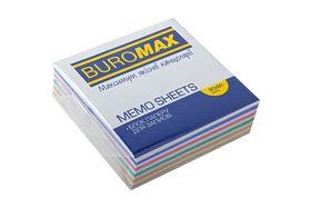Блок бумаги для заметок Buromax Зебра 90х90х30 мм, склеенный