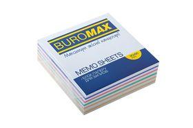 Блок бумаги для заметок Buromax Зебра 90х90х30 мм, не склеенный