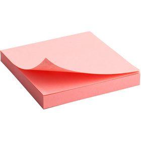 Блок бумаги для заметок Axent 75x75 мм, склеенный, пастельный розовый
