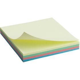 Блок бумаги для заметок Axent 75x75 мм, склеенный, пастельный ассорти