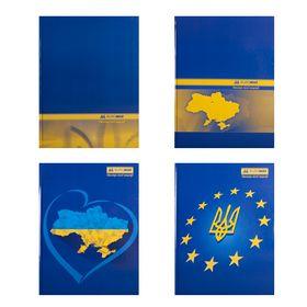 Книга канцелярская Buromax UKRAINE А4, 192 листа, клетка, ассорти