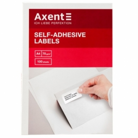 Этикетки самоклеящиеся Axent 30 шт, 70х29.7 мм, 100 листов