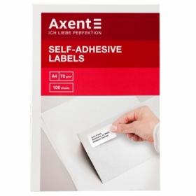 Этикетки самоклеящиеся Axent 1 шт, 210х297 мм, 100 листов
